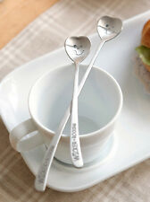 Wicker Rocking heart shape Tea Spoon Stainless steel kitchen cute flatware