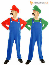 Age 4-12 Kids Super Mario Bros Video Game Boys Childrens Fancy Dress Costume