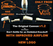 The ORIGINAL CANNON v1.2 Atomizer w/ Ceramic Rod Wicked Replacment Coil Option