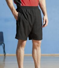 Finden & Hales Mens Sports Shorts Microfibre Peached Finish Black Navy S-XXL