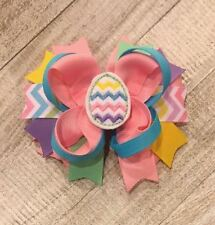 Chevron Easter Egg Boutique Hair Bow