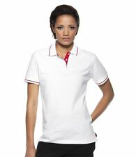 Kustom Kit Ladies Tipped Polo Shirt Womens 100% Cotton Short Sleeve Collared Top