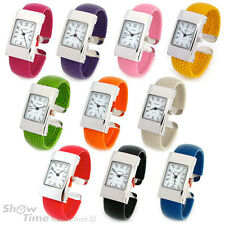 New Geneva Small Size Women's Bangle Cuff Watch - 12 Color Choice