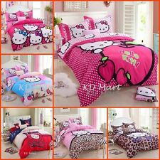 """New Kids"""" Hello Kitty"""" Printed Bed Quilt Cover Cotton Set  collection 17 designs"""