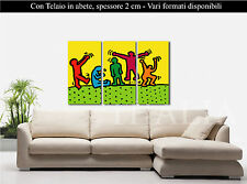 Quadro INTELAIATO su Tela -  KEITH HARING 1 - Stampa CANVAS