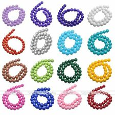 4-12mm Opaque Coated Glass Pearl Round Bead DIY Loose Bead Top Quality Wholesale
