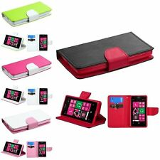 Leather Wallet Book Magnetic Book Flip Phone Case Cover For Nokia Lumia 521