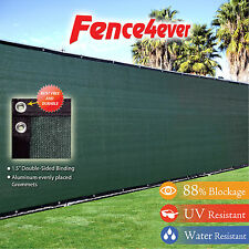 6'Tall x 50' Olive Green Fence Screen Cover Mesh Windscreen Privacy Fabric Patio