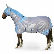 Gallop sand/blue all in one fly rug/sweet itch rug with free face mask ALL SIZES
