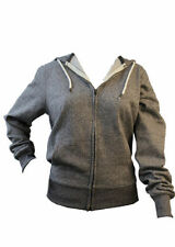 UNISEX ZIP UP LONG SLEEVE HOODIE SWEATSHIRT LIGHT GREY 65% COTTON (FREE P&P)