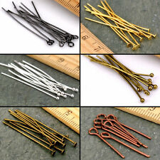 Lots 100Pcs Silver Gold Bronze Flat Head/Eye/Ball Pins Jewelry Findings 21 Gauge