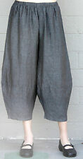 CHALET USA Flax Linen RENEE PANT  Balloon Panel Crop Hem Pants 1X  2X  VINTAGE