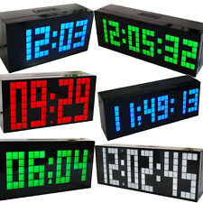 Digital Large Big Jumbo LED snooze wall desk alarm day of week calendar clock