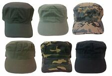 Cadet Box Cap Army Military Fashion Castro Hat Cap - Sizes