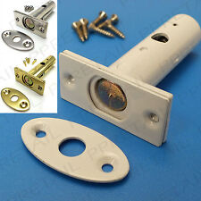 SECURITY DOOR LOCKING BOLT +BRASS/WHITE/SILVER+ Concealed/Frame Strong/Dead Lock