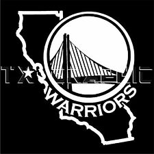 DECAL FOR GOLDEN STATE WARRIORS CALIFORNIA MAP BASKETBALL VINYL STICKER GRAPHIC