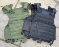 NEW FRENCH ARMY SURPLUS BLACK & GREEN MOLLE COMBAT ASSAULT PLATE CARRIER,VEST