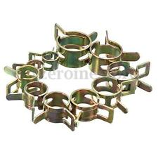 10Pcs 6-15mm Vacuum Spring Fuel Oil Water Hose Clip Pipe Tube Band Clamp Metal