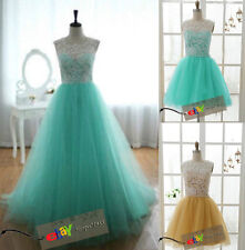 2014 Aqua Wedding party Bridesmaid dress Prom Graduation Ball Evening long Gown