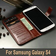 Luxury Leather Wallet Case FOR Samsung Galaxy S4 i9500 Book Style Card Holder