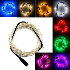 SUPERNIGHT™ Silver Wire 10m 100LED 33Ft Starry Lights Strings Fairy Lamp DC 12V