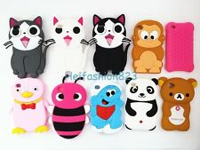 Panda Bear Bee Cat Monkey Cartoon Animal Silicone Rubber Case For iPod Touch 4
