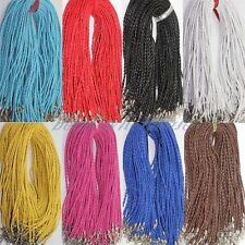 10/100pcs lots Women Simple Man-made Leather Braid Rope Charm Necklace 3mm