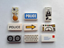 LEGO TILES PRINTED  DECORATED (SIZE 1X2)