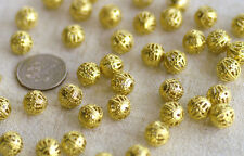 Solid Raw Brass Filigree Hollow Ball Spacer Bead b39PICK