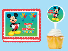 MICKEY MOUSE Edible Cake Topper Cupcake Image Decoration Birthday Party