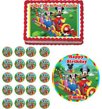 MICKEY MOUSE Train Clubhouse Edible Cake Topper Cupcake Image Decoration