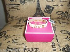 AUTHENTIC JUICY COUTURE LOVE & DAISY STUDDED LEATHER BRACELET NWT/BOX $42