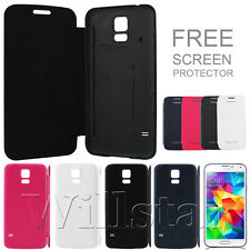 SALE FLIP LEATHER BACK BATTERY COVER CASE FOR SAMSUNG GALAXY SV S5 I9600 + FILM