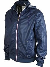MENS JACK SOUTH CLATFORD NAVY BLUE FAUX LEATHER DETACHABLE HOOD SIZES S TO XXL