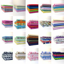 6 pack Fat Quarters Bundle 100% Cotton Fabric - for Craft, Quilting, Patchwork