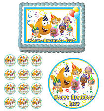 BUBBLE GUPPIES Edible Cake Topper Cupcake Image Decoration Birthday Party