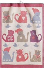 Ekelund Towel - Julkatter Cotton Cat Kitchen or Hand Towel