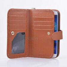 Lady Leather Handbag Cash Wallet Phone Case for Samsung Galaxy S3 S4 S5 Note 2
