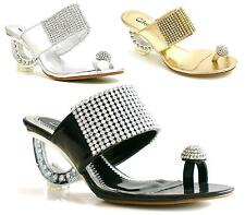 Womens Ladies Bridal Prom Wedding Shoes Wedge Evening Sandals Size 3-8 Sc59