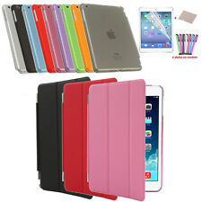 Ultra Slim Magnetic PU Leather Smart Cover Hard Back Case For Apple iPad Lines