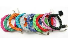 3x 6ft (2m) Braided Fabric USB 30pin Data Sync Charger Cable for iPhone 4 4S 4G