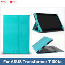 """SIKAI keyboard Leather Case Cover For ASUS T100TA Transformer Book 10.1""""PC"""