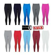 New Ladies Womens Full Length Leggings Womens Stretchy Trousers Size 8-14