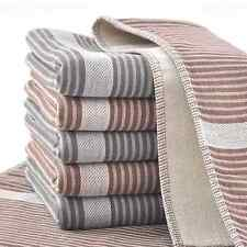 Fashion Happy Purely Cotton Cloth Face Towel Soft Warm Thick Stripe Gray Coffee
