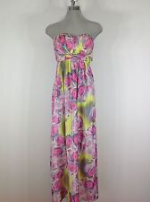 Jessica Simpson NWT Pink Floral print Strapless Summer Dress
