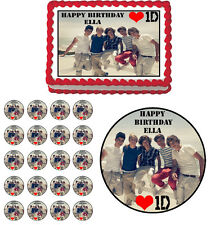 1D One Direction  Edible Birthday Cake Topper Cupcake Image Party Decoration