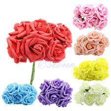 Bridal Bouquet Rose Flower Head Posy Party Bridal Wedding Bridesmaid Decoration