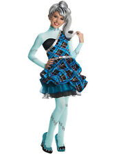 Child Monster High Frankie Stein Outfit Fancy Dress Costume Wig Halloween Kids