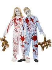 Child Zombie Pyjama Boy Girl Fancy Dress Costume Halloween Undead Horror Kids BN