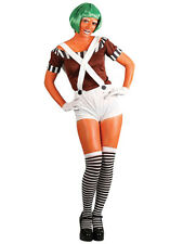 Ladies Sexy Factory Worker Oompa Loompa Wonka Fancy Dress Costume XS-XL Plus New